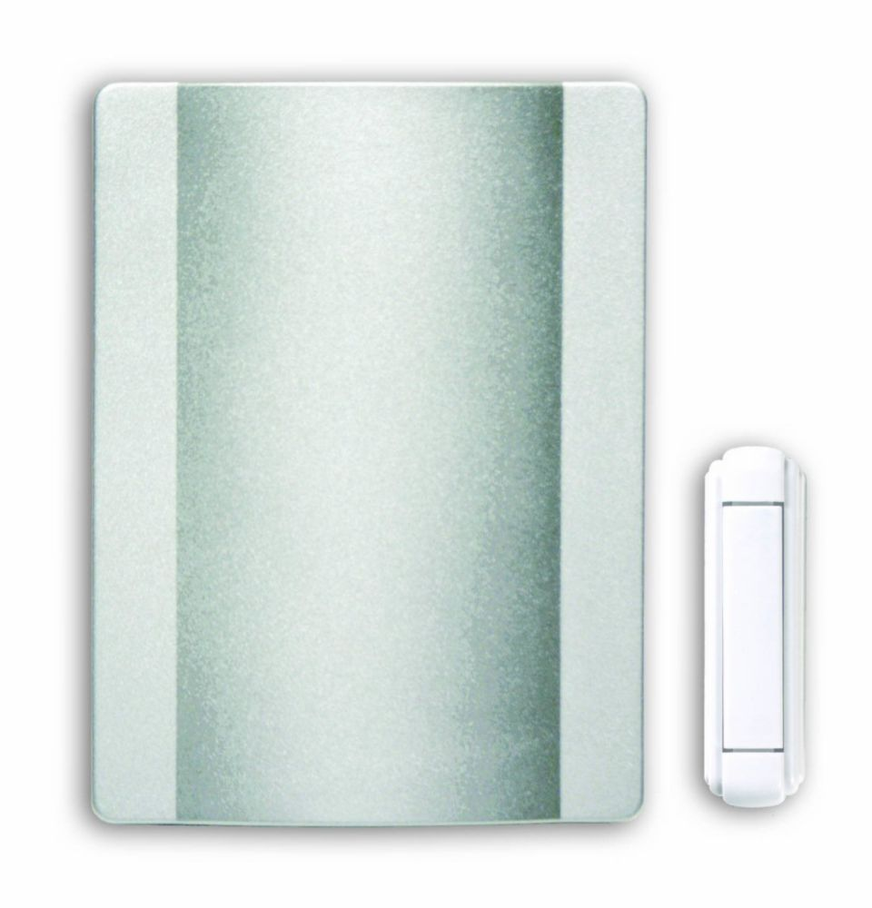 Hampton Bay Wireless Battery Operated Door Chime Kit With Satin Nickel Finish Cover