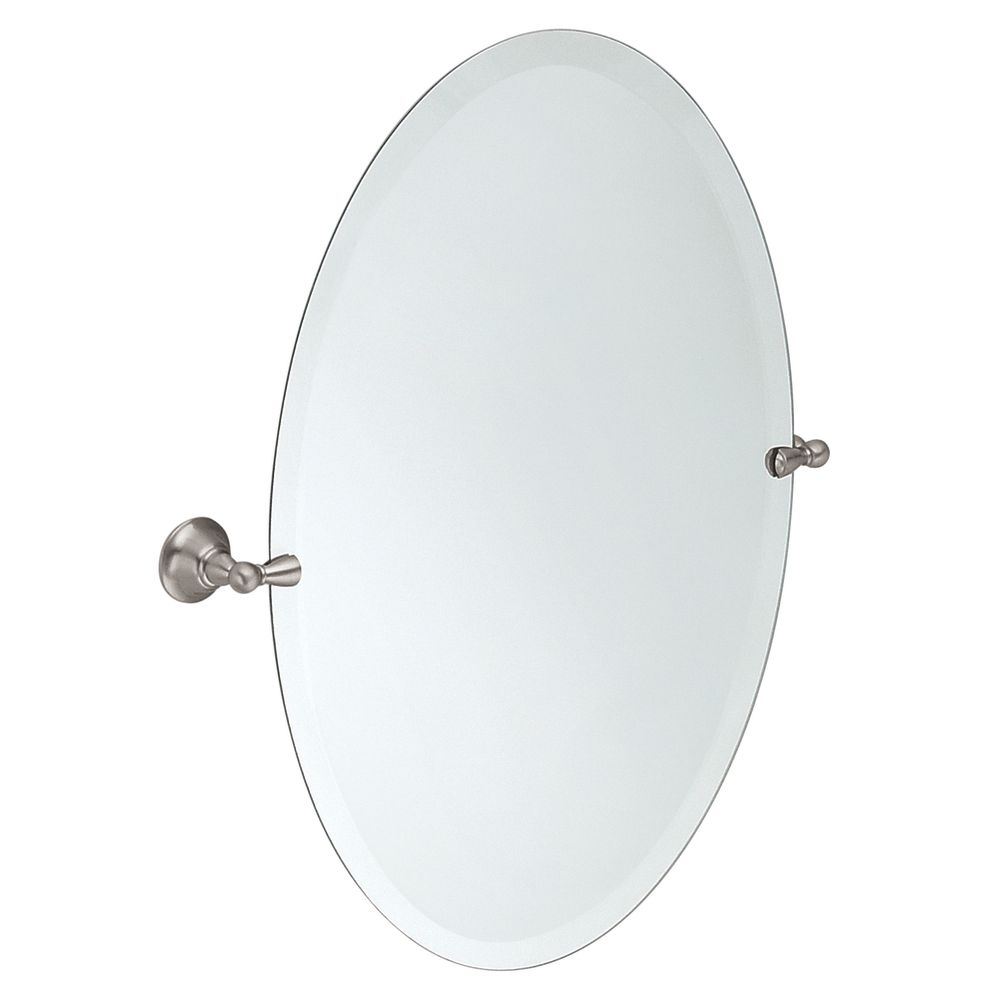 Sage Brushed Nickel Mirror with Pivoting Decorative Hardware