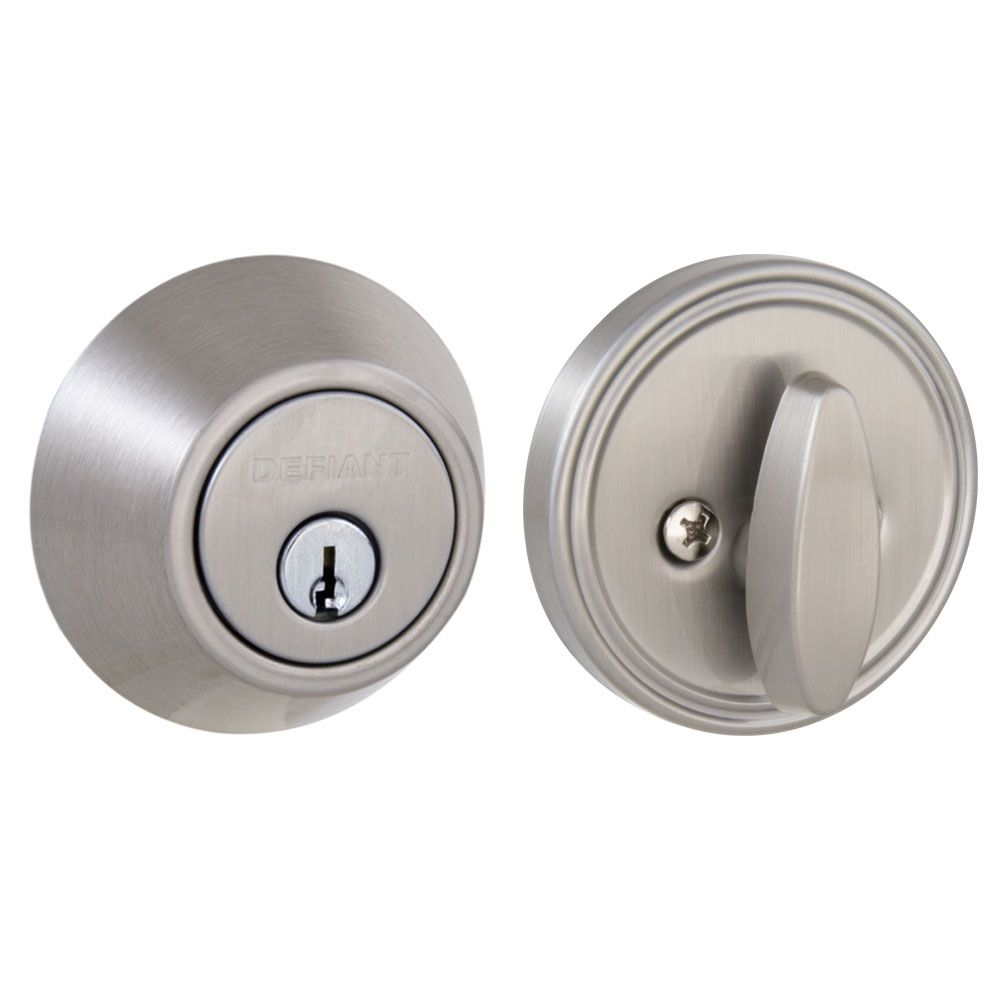 Satin Nickel Single Cylinder Deadbolt