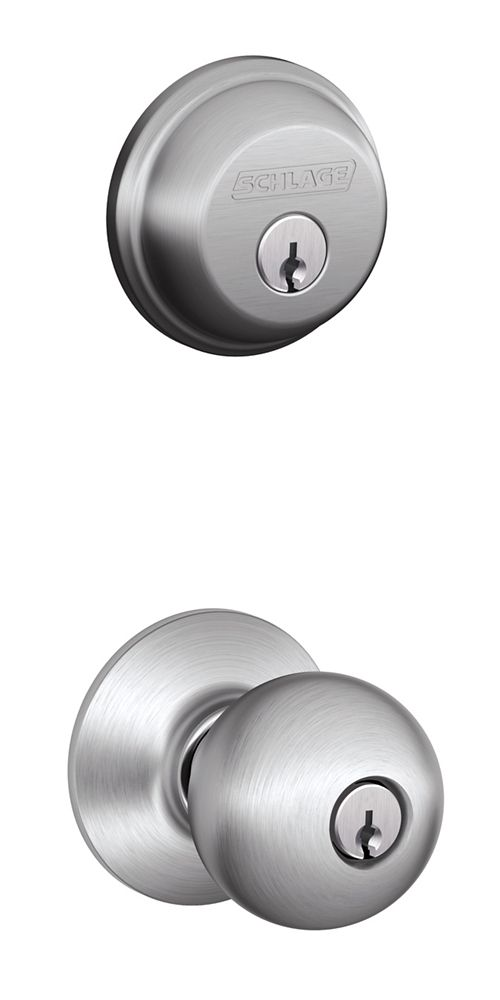 Schlage Combo Pack Orbit Satin Chrome