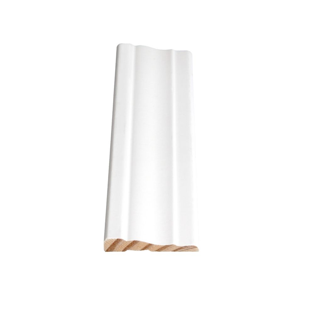 Primed Finger Jointed Pine Colonial Casing 3/8 In. x 2-1/4 In. (Price per linear foot)