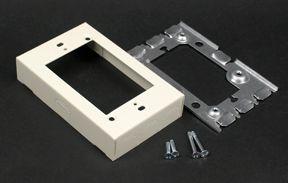1 Gang Metal Starter Box Ivory