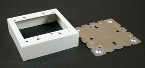 Legrand Wiremold 2 Gang Deep Switch & Receptacle Box Ivory