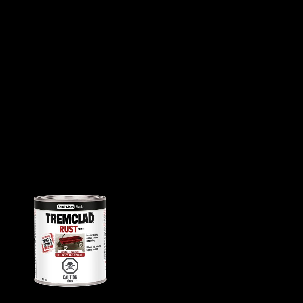Rust Paint - Semi Gloss Black (946ml)