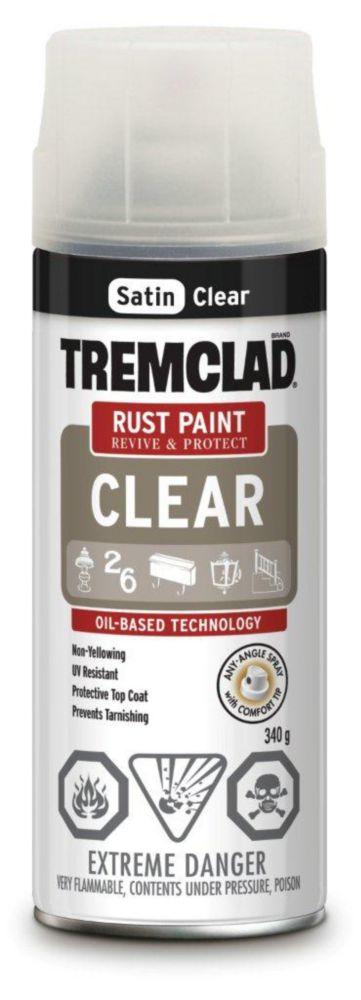 TREMCLAD Rust Paint - Clear Satin (340g Aerosol)