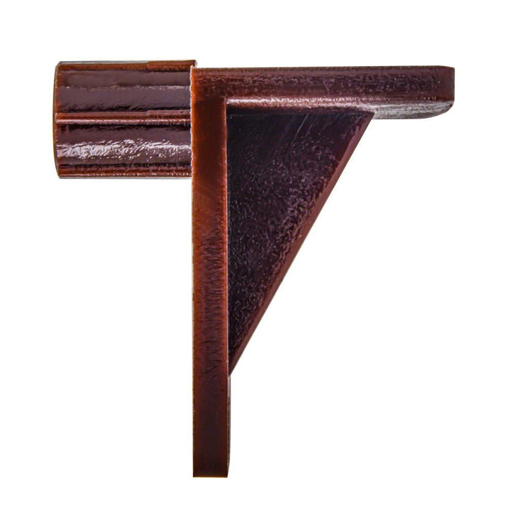 1/4 Shelf Support Brown