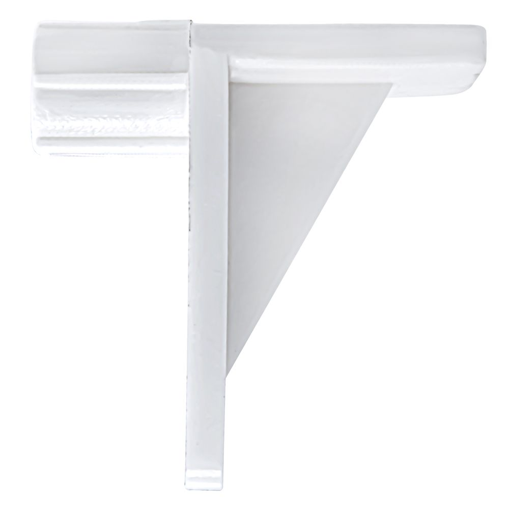 "1/4X1/4"" Rt. Angle Shelf Support White"