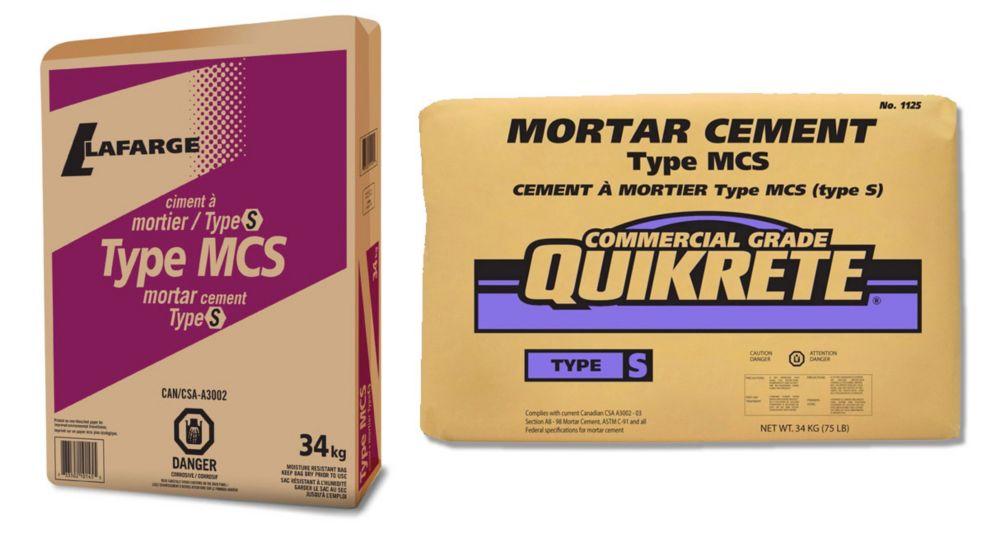 Mortier de ciment MCS de type S 34kg