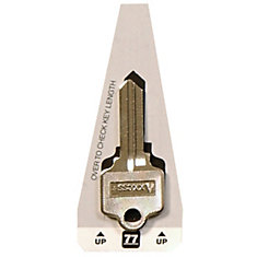 house key.  Key 77 Axxess Key  Schlage Double Sided House For