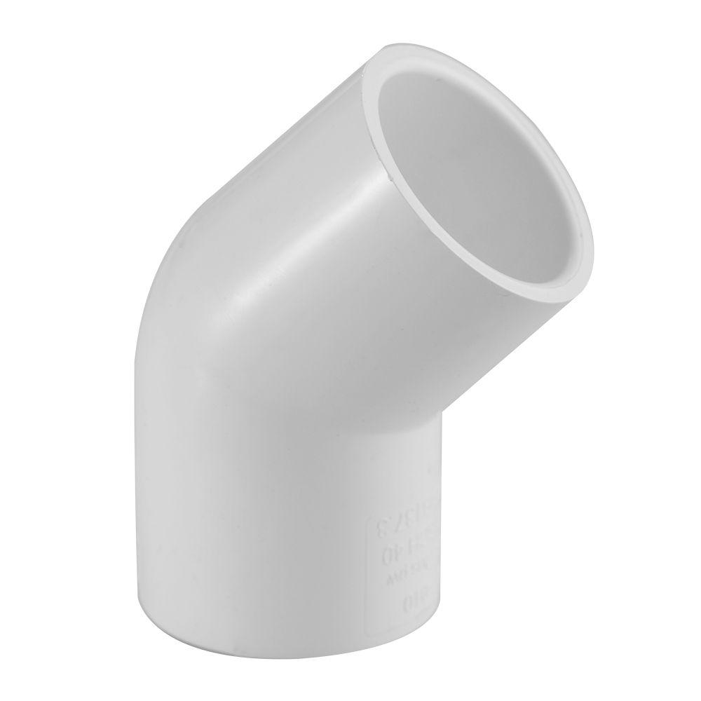 PVC Elbow 45 1/2 Inch SXS