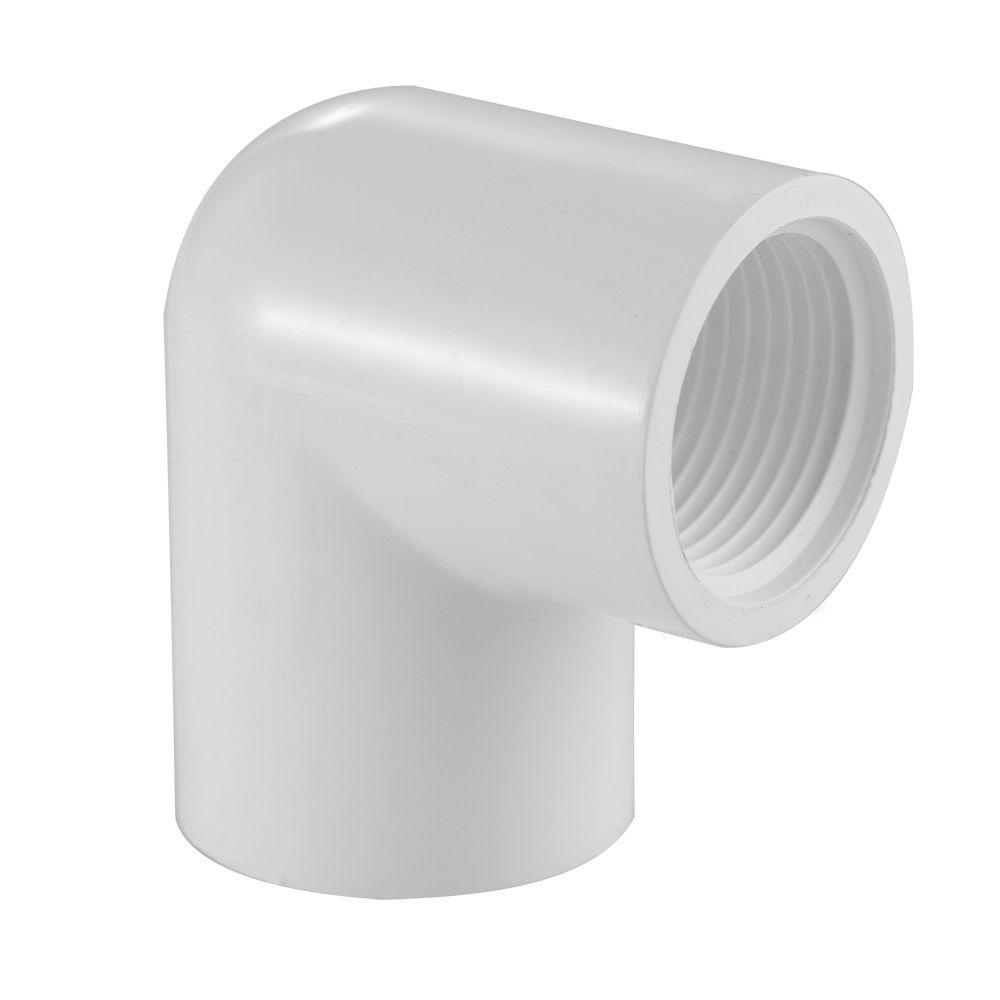 Coude coulissant FIPT de 90 degrés en PVC Schedule 40, 1/2 po