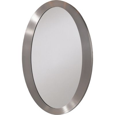 Home decor innovations contemporary oval mirror nickel for Oval mirror canada