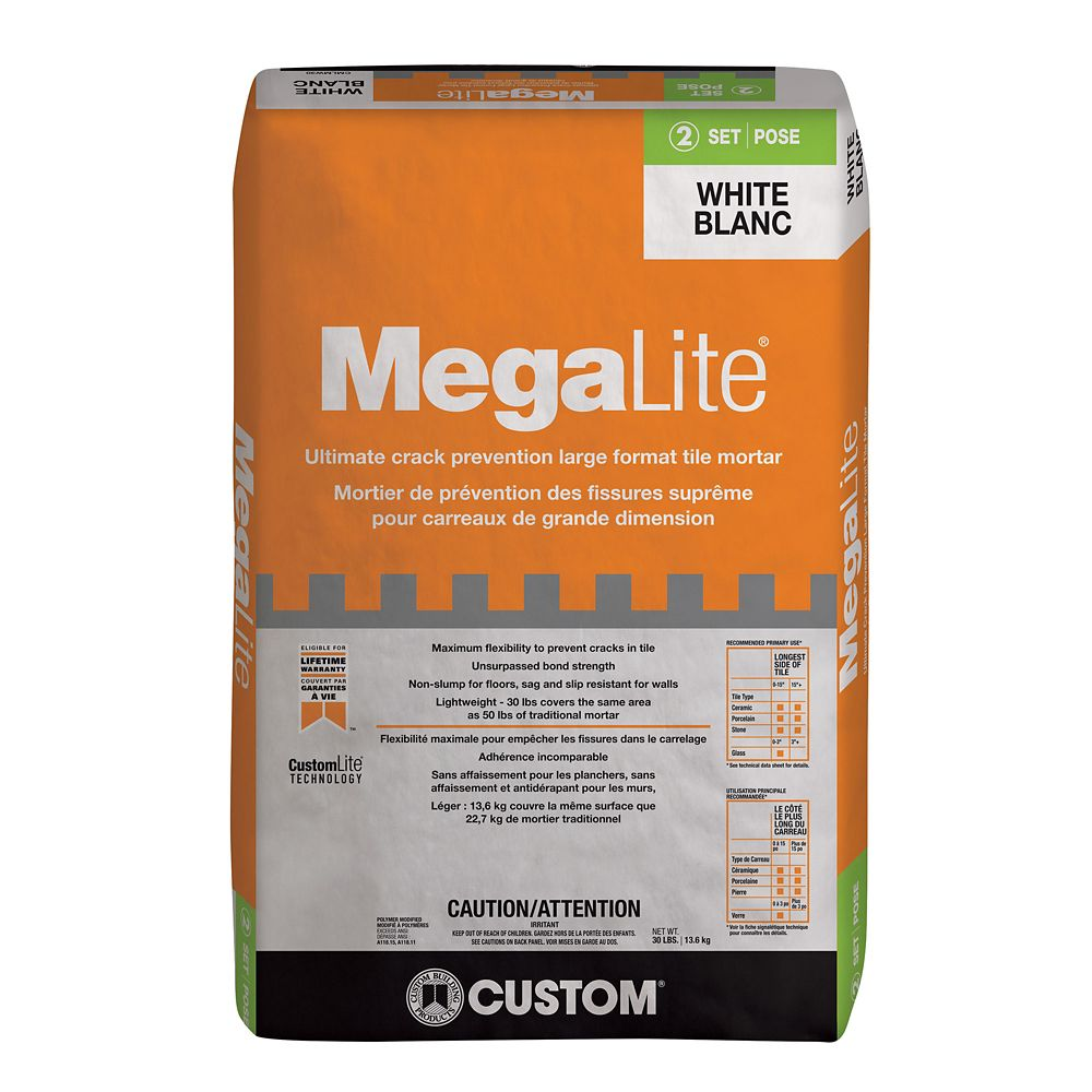MegaLite Ultimate Performance Mortar White - 30lb