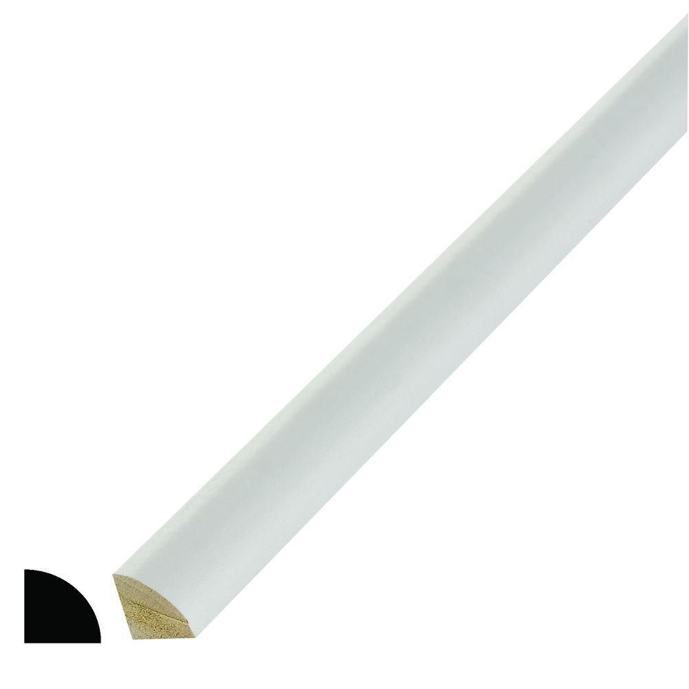 Alexandria Moulding Primed Finger Jointed Pine Quarter Round 11/16-inch x 11/16-inch (Price per linear foot)