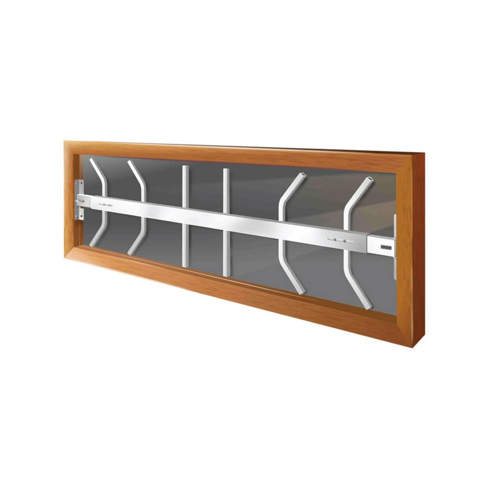 202 B 42-inch to 54-inch W Hinged Window Bar