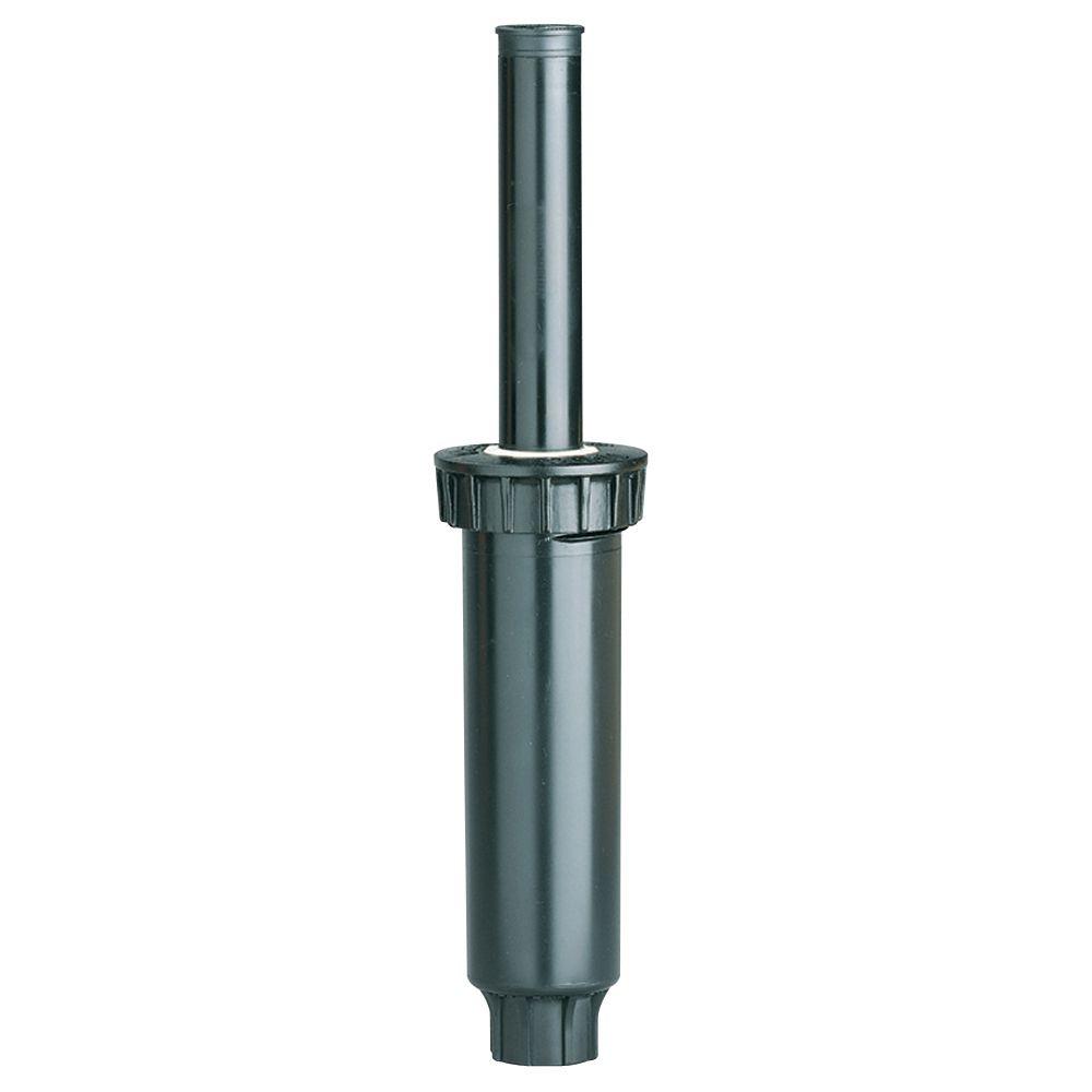 Arroseur escamotable à ressort de 4 po à distribution latérale avec buse en plastique, Pro