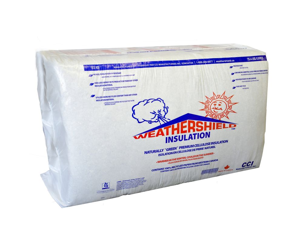 Weathershield Cellulose Fiber Blowing Insulation 25 Lbs