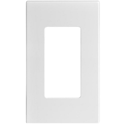 Decora Screwless wall plate 1-Gang, White