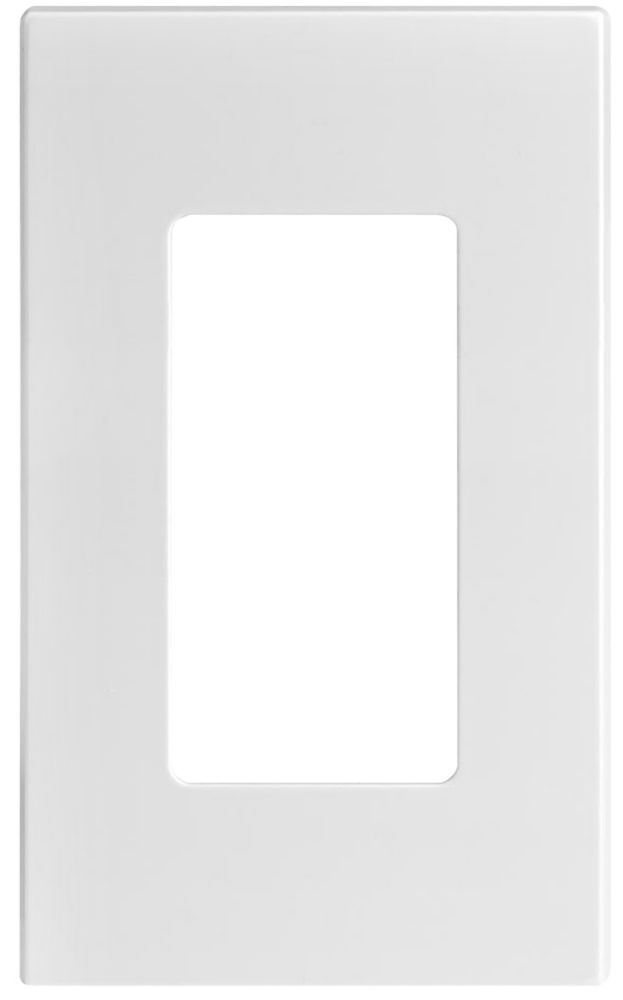 Leviton Decora Screwless wall plate 1-Gang, White