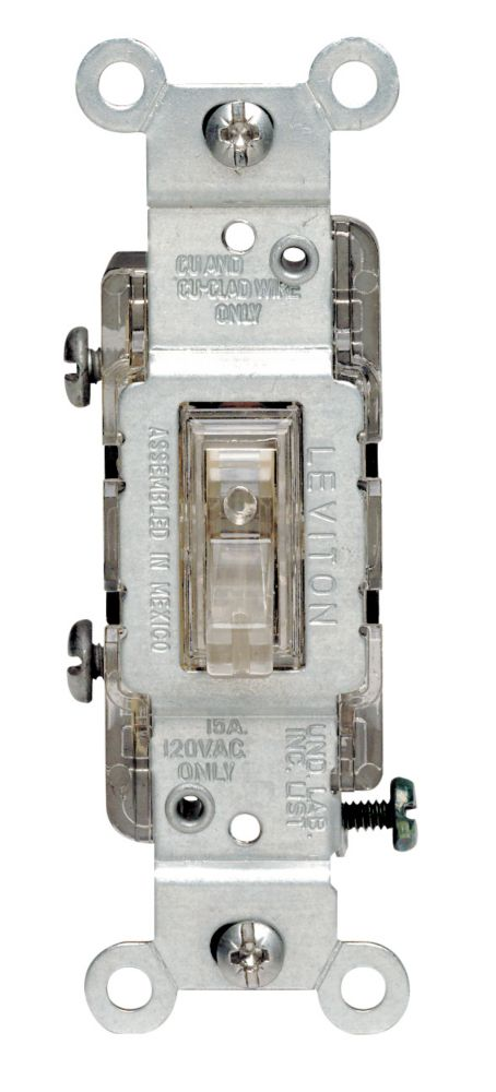 Leviton 3Way Lighted Toggle Switch The Home Depot Canada