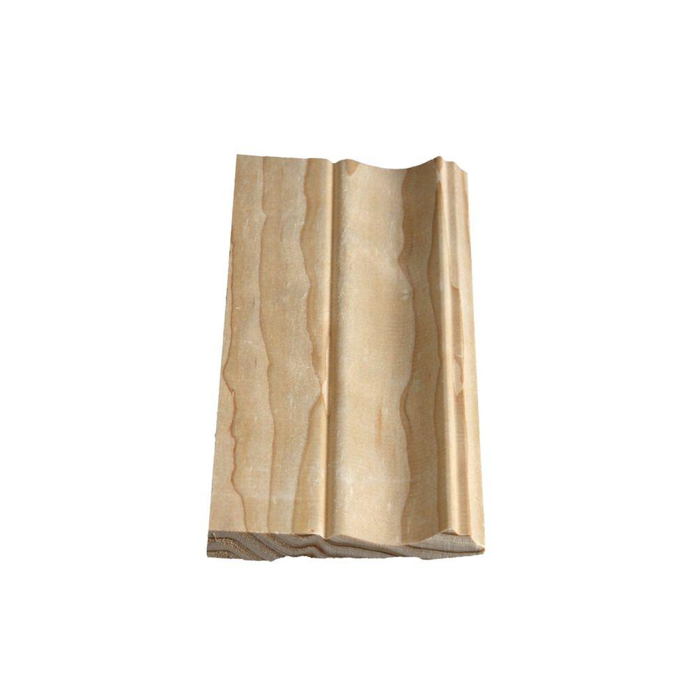 Plinthe de type colonial, pruche/sapin baumier 7/16 x 3 1/4