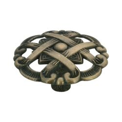 Richelieu Traditional Metal Knob 1 15/32 in (37 mm) Dia - Antique English - Provence Collection