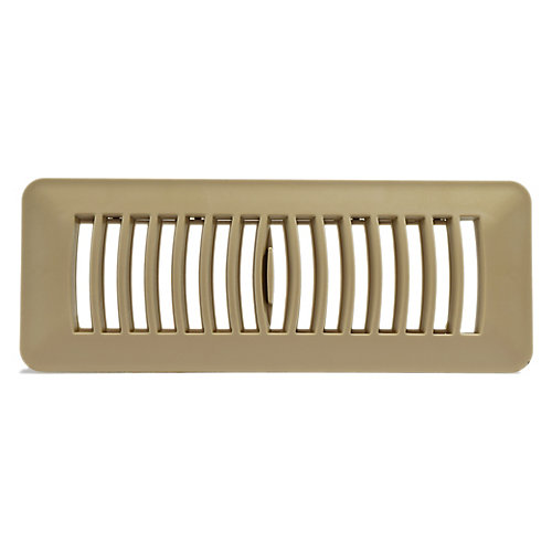 3 inch x 10 inch Plastic Floor Register - Taupe