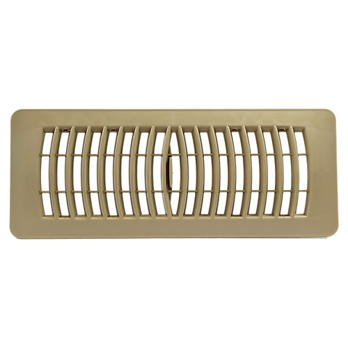 4 inch x 10 inch Plastic Floor Register - Taupe
