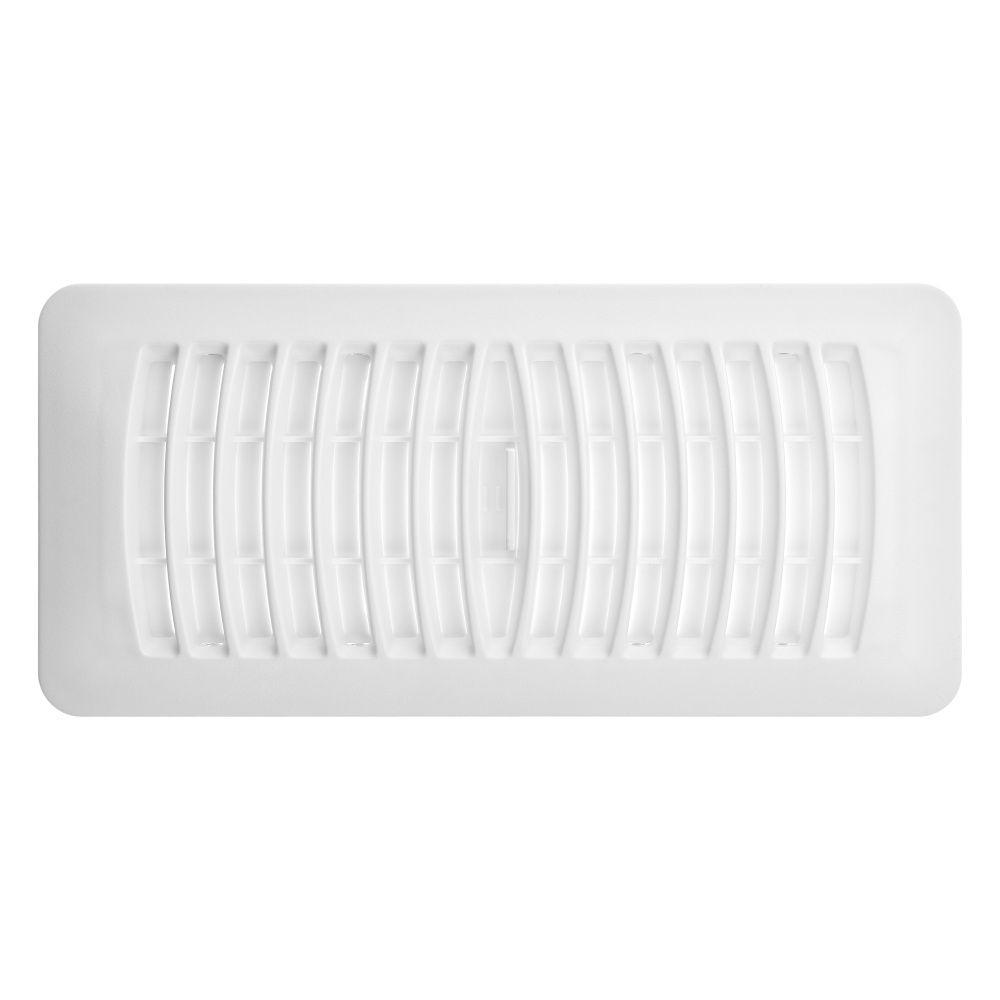 4x10 White Plastic Floor Register