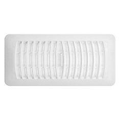 4 inch x 10 inch Plastic Floor Register - White