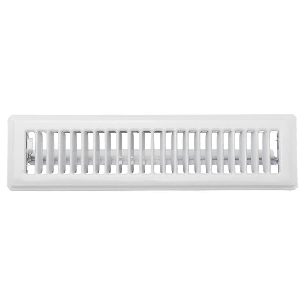 2 1/4  x12  Floor Register - White