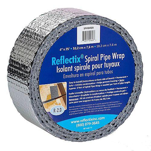 Reflectix Pipe Wrap 4-inchx25'