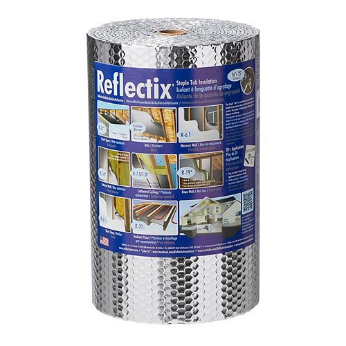 Reflectix 16-inch x 25 ft. Double Reflective Insulation with Staple Tab