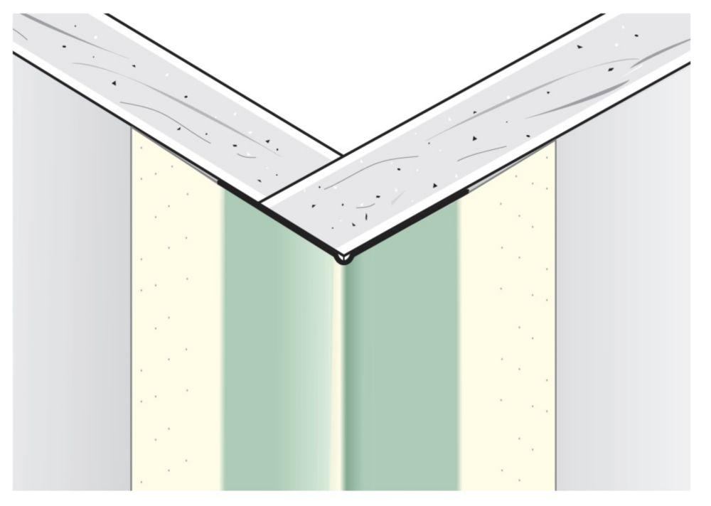 Renfort d'angle extérieur métallique à face de papier B1W 11/16po x 11/16po, à rebord égal, 7p...
