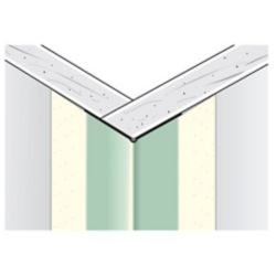 Beadex Paper-Faced Metal Outside Corner Bead, B1W 11/16 In. x 11/16 In. Even Leg, 7 Ft.