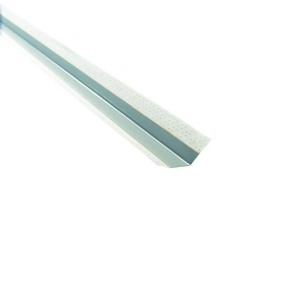 Renfort d'angle extérieur métallique à face de papier BEADEX, B1 3/4po x 1/2po pour angle décal...