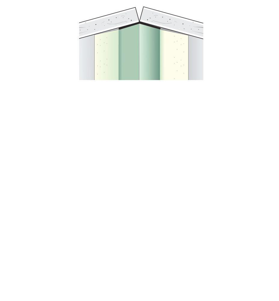 Beadex Paper Faced Metal Inside Corner Bead B2 5 8 In X