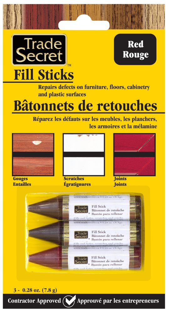 Trade Secret Fill Stick - Red - Set Of 3 (S)