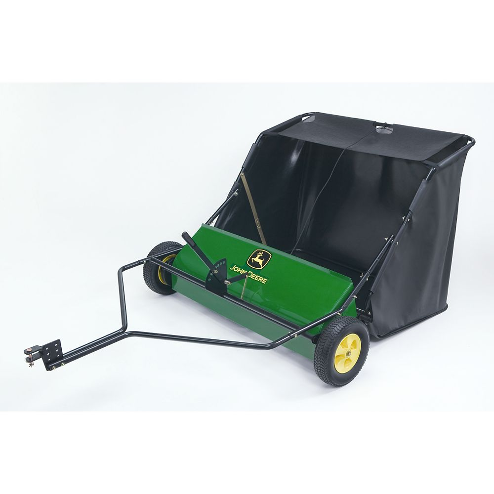 John Deere 42-inch Tow-Behind Lawn Sweeper for Riding Mowers & Tractors