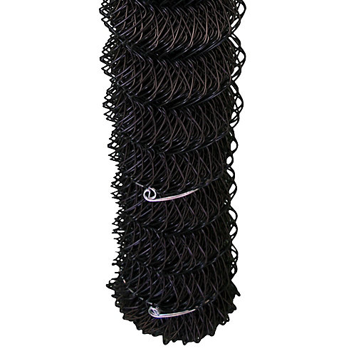 Chain Link Mesh - 48 Inch Tall X 50 Feet - Black - 2 Inch X 2 Inch Opening