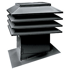 Sloped Roof Ventilator Model 301, Black