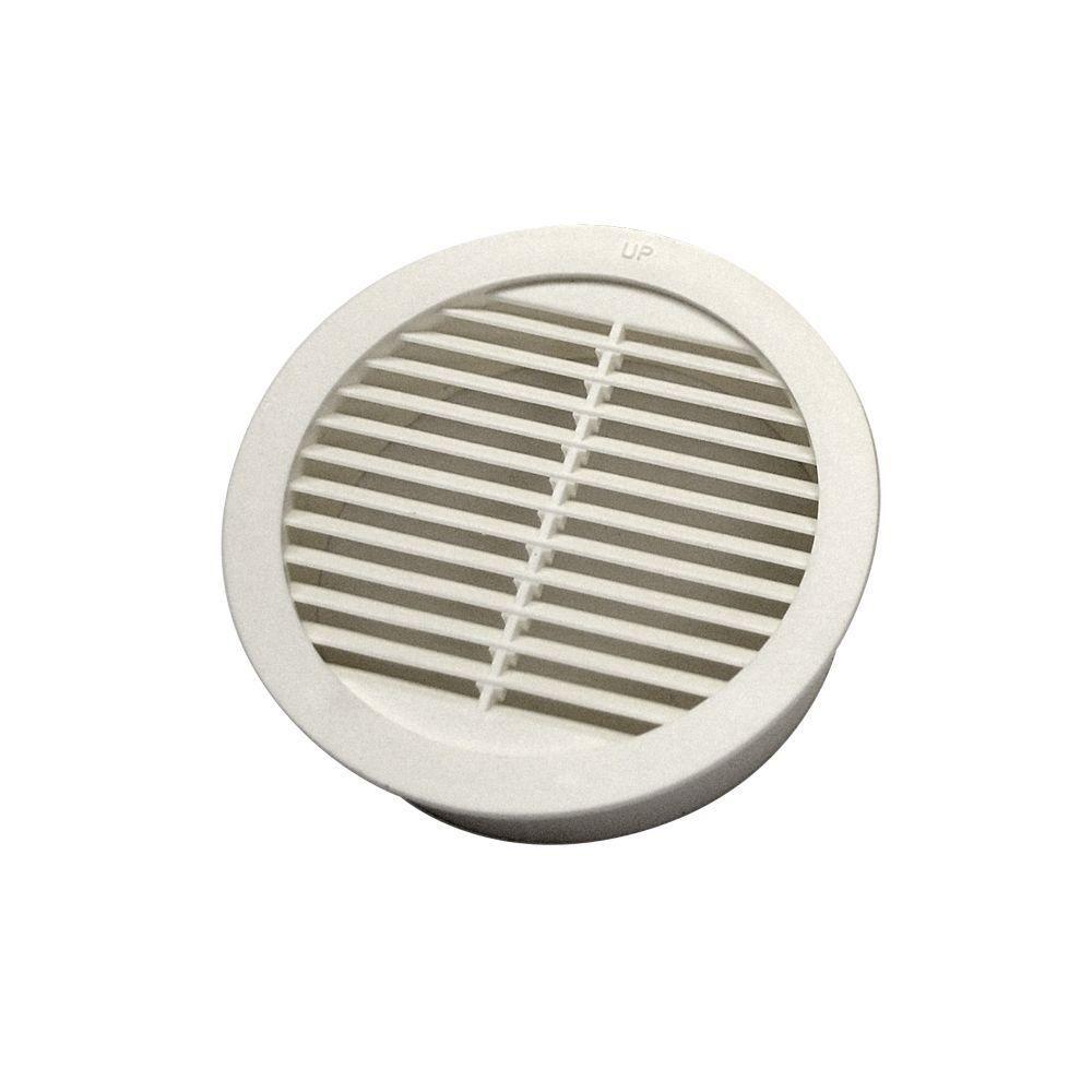 3 inch White Circular Louver Resin