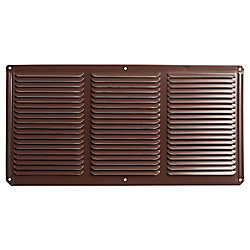 Master Flow 16 inch x 8 inch Brown Under Eave Vent Aluminum
