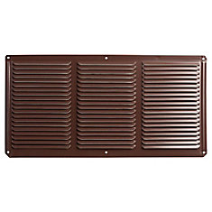 16 inch x 8 inch Brown Under Eave Vent Aluminum