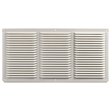 16 inch x 8 inch White Under Eave Vent Aluminum. Master Flow 16 inch x 8 inch White Under Eave Vent Aluminum   The