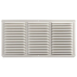 Master Flow 16 -inch x 8 -inch Aluminum Under Eave Soffit Vent in White