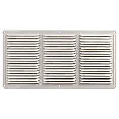16-inch x 8-inch Aluminum Under Eave Soffit Vent in White