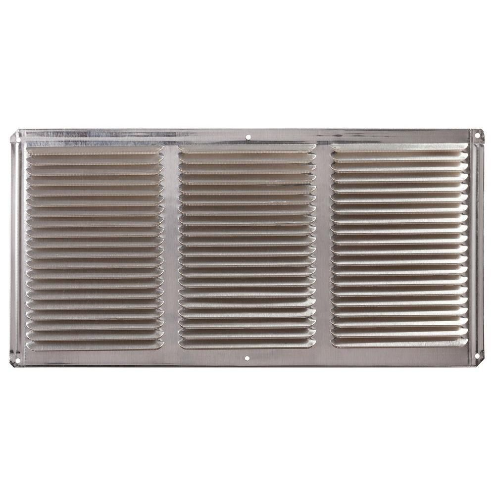 16 inch x 8 inch Mill Under Eave Vent Aluminum
