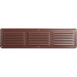 Master Flow 16-inch x 8-inch Brown Under Eave Vent Aluminum