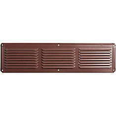 16-inch x 8-inch Brown Under Eave Vent Aluminum